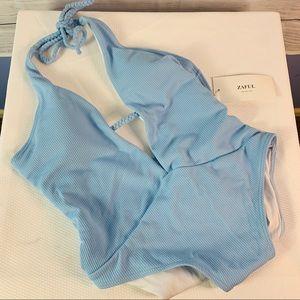 NWT Zaful One Piece Swimsuit Blue size 8